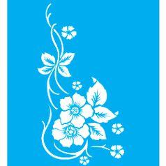 Stencil-para-Pintura-25x20-Flores-LSG-009---Litocart