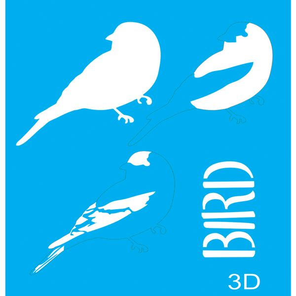 Stencil-para-Pintura-20x15-Bird-3-LSM-033---Litocart