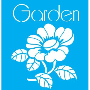 Stencil-para-Pintura-20x15-Garden-Flor-LSM-023---Litocart