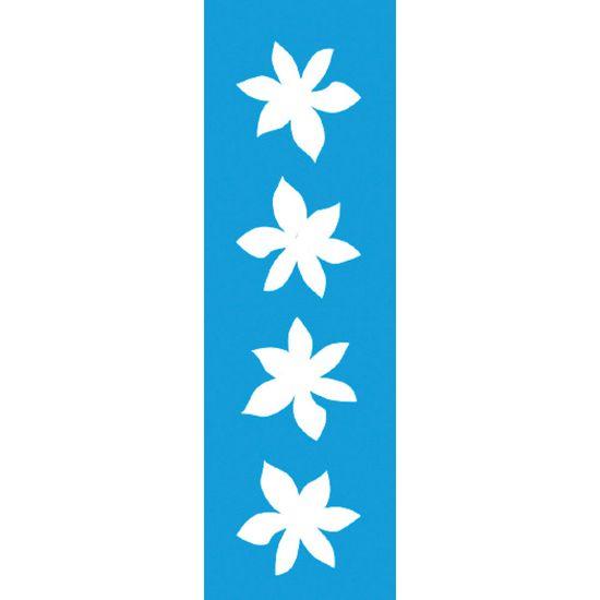Stencil-para-Pintura-Barra-21x55-Flor-6-Petalas-LSB-005---Litocart
