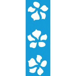 Stencil-para-Pintura-Barra-21x55-Flores-5-Petalas-LSB-011---Litocart
