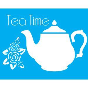 Stencil-para-Pintura-20x15-Tea-Time-LSM-003---Litocart