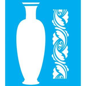 Stencil-para-Pintura-20x15-Vaso-Alto-e-Arabesco-LSM-007---Litocart