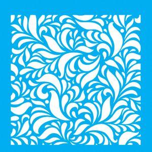 Stencil-para-Pintura-20x20-Estampa-Folhas-LSQ-007---Litocart