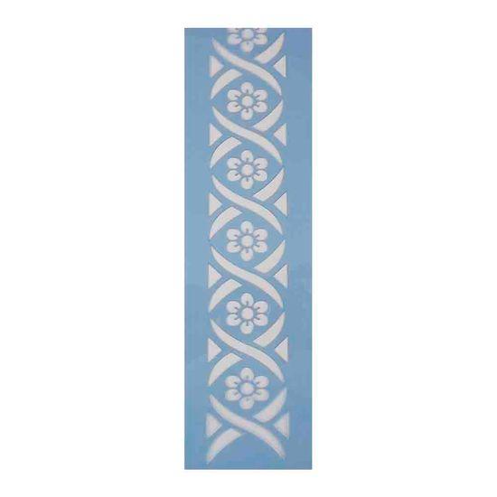 Stencil-para-Pintura-Barra-295x85-Flores-LS-015---Litocart
