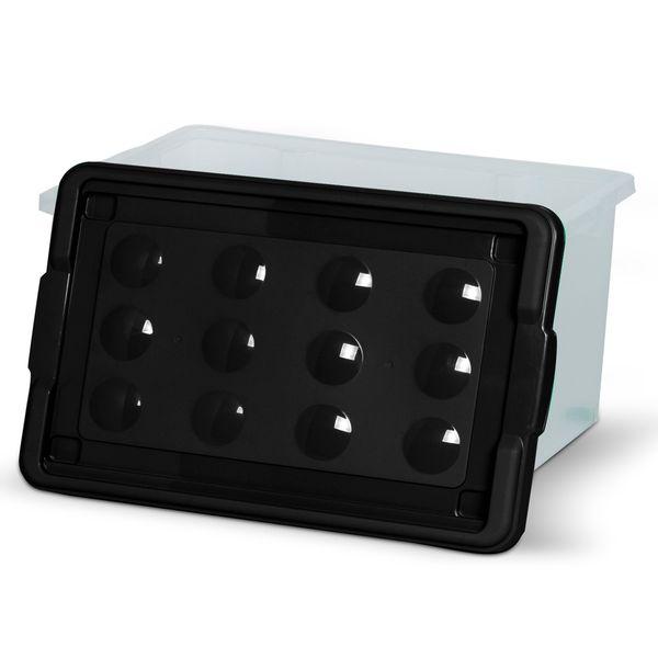 Caixa-Organizadora-Container-16-Litros-com-Tampa-Preta---Niquelart