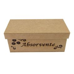 Caixa-para-Absorventes-Arabesco-Flor-Tampa-de-Sapato---MDF-Laser
