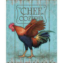 Placa-em-MDF-e-Papel-Decor-Home-Galo-Chefe-de-Cozinha-DHPM-076---Litoarte