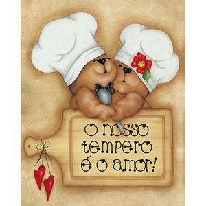 Placa-em-MDF-e-Papel-Decor-Home-Casal-de-Ursos-Cozinheiros-DHPM-093---Litoarte