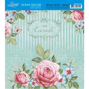 Papel-Scrap-Decor-Folha-Simples-20x20-Meu-Encanto-SDSXX-030---Litoarte