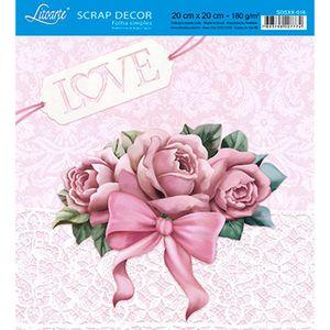 Papel-Scrap-Decor-Folha-Simples-20x20-Rosas-com-Laco-SDSXX-016---Litoarte