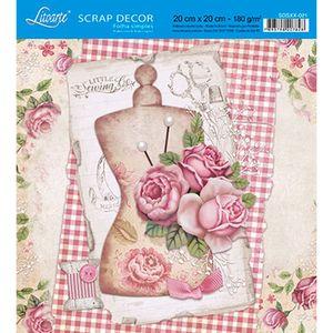Papel-Scrap-Decor-Folha-Simples-20x20-Rosas-SDSXX-021---Litoarte