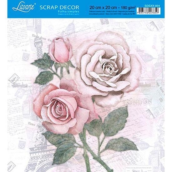 Papel-Scrap-Decor-Folha-Simples-20x20-Rosas-SDSXX-024---Litoarte
