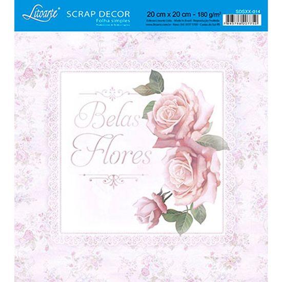 Papel-Scrap-Decor-Folha-Simples-20x20-Belas-Flores-SDSXX-014---Litoarte