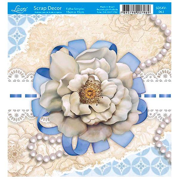 Papel-Scrap-Decor-Folha-Simples-15x15-Flor-e-Perola-SDSXV-063---Litoarte