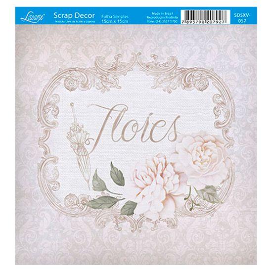 Papel-Scrap-Decor-Folha-Simples-15x15-Flores-SDSXV-057---Litoarte