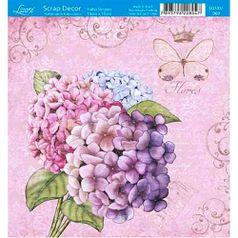 Papel-Scrap-Decor-Folha-Simples-15x15-Hortensia-SDSXV-069---Litoarte