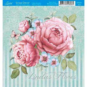 Papel-Scrap-Decor-Folha-Simples-15x15-Lindas-Flores-SDSXV-073---Litoarte