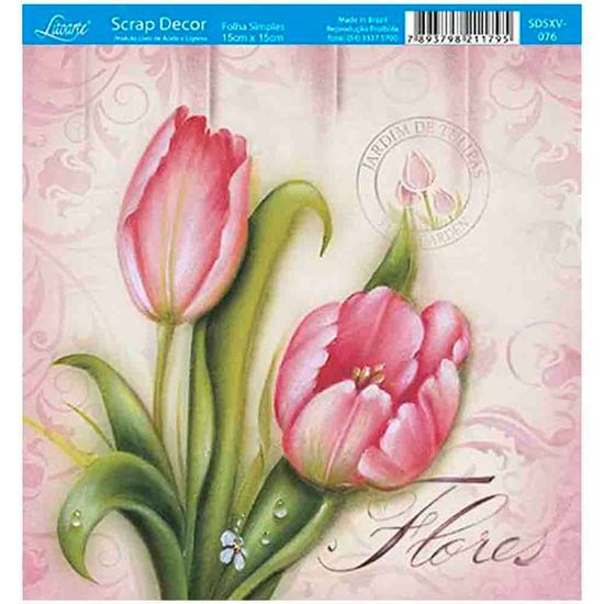 Papel-Scrap-Decor-Folha-Simples-15x15-Tulipa-SDSXV-076---Litoarte
