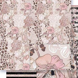 Papel-Scrapbook-Dupla-Face-Flores-Estampa-Onca-SD-408---Litoarte