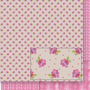 Papel-Scrapbook-Dupla-Face-Flores-e-Trico-SD-411---Litoarte