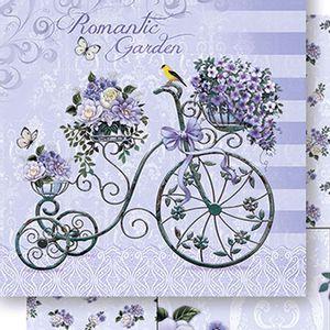 Papel-Scrapbook-Dupla-Face-Bicicleta-Flores-SD-421---Litoarte