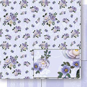 Papel-Scrapbook-Dupla-Face-Flores-e-Listras-SD-422---Litoarte