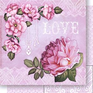 Papel-Scrapbook-Dupla-Face-Love-e-Rosas-SD-423---Litoarte