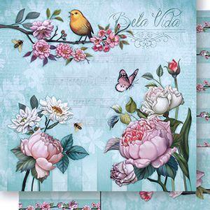 Papel-Scrapbook-Dupla-Face-Flores-SD-427---Litoarte