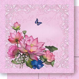 Papel-Scrapbook-Dupla-Face-Flor-de-Lotus-SD-437---Litoarte
