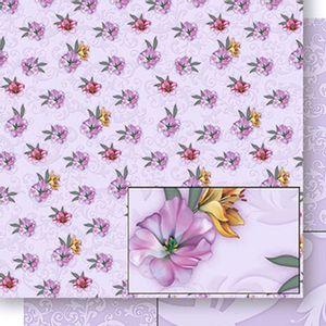 Papel-Scrapbook-Dupla-Face-Lirios-e-Arabesco-SD-440---Litoarte