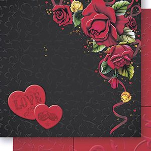 Papel-Scrapbook-Dupla-Face-Love-e-Rosas-SD-443---Litoarte