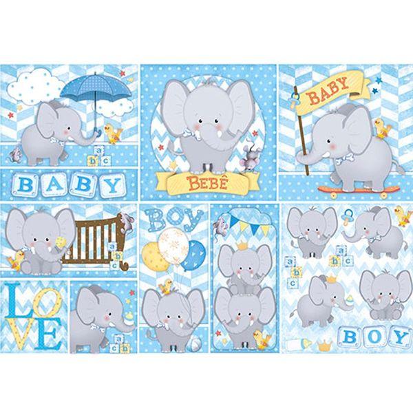 Papel-Decoupage-Elefante-Baby-PD-539N---Litoarte