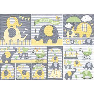 Papel-Decoupage-Elefante-Baby-PD-567N---Litoarte