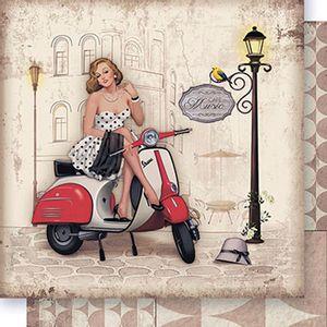 Papel-Scrapbook-Dupla-Face-Dama-e-Vespa-SD-387---Litoarte