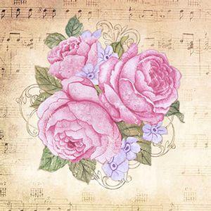 Papel-Scrap-Decor-Folha-Simples-20x20-Rosas-e-Notas-Musicais-SDSXX-025---Litoarte