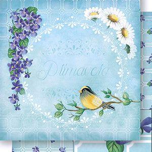 Papel-Scrapbook-Dupla-Face-Flores-e-Passaros-SD1045-Lili-Negrao---Litoarte