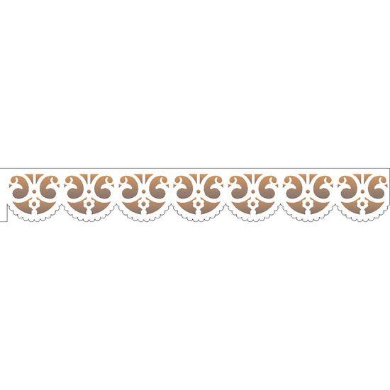 Estencil-para-Pintura-Simples-4x30-Renda-Arabesco-Flor-OPA1929---Opa