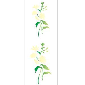 Estencil-para-Pintura-Simples-10x30-Flor-Margaridas---OPA2003---Opa