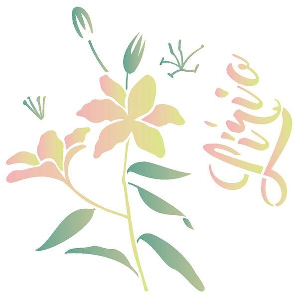Estencil-para-Pintura-Simples-305X305-Flor-Lirio-OPA2091---Opa