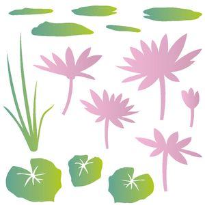 Estencil-para-Pintura-Simples-305X305-Flor-de-Lotus-OPA2090---Opa