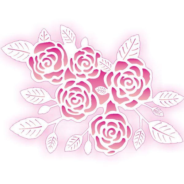 Estencil-para-Pintura-Simples-20X25-Negativo-Rosas-OPA2073---Opa