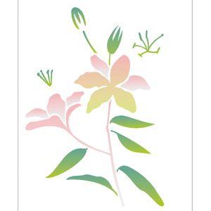 Estencil-para-Pintura-Simples-20X25-Flor-Lirio-OPA2064---Opa