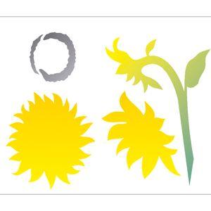 Estencil-para-Pintura-Simples-20X25-Flor-Girassois-OPA2060---Opa