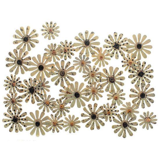 Flores-Artesanais-Vintage-Kraft-Margaridas-Finas-Flor127---Toke-e-Crie