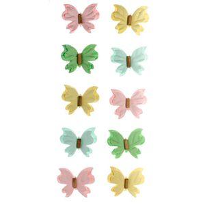 Adesivo-Mini-Borboletas-de-Papel-Marshmallow-Colecao-Feito-a-Mao-AD1691---Toke-e-Crie