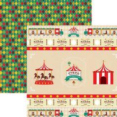 Papel-Scrap-Festa-Dupla-Face-Circo-Vintage-Fitas-e-Rotulos-SDF645---Toke-e-Crie-By-Mariceli
