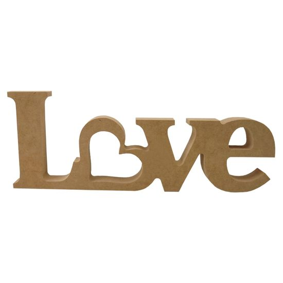 Recorte-Enfeite-de-Mesa-Love-com-Coracao-10x26cm---Madeira-MDF
