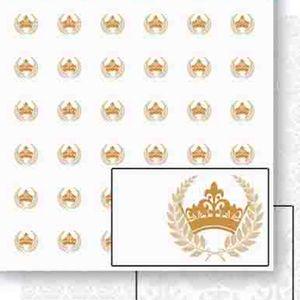 Papel-Scrapbook-Dupla-Face-Coroas-e-Ramos-Dourado-SD-454---Litoarte