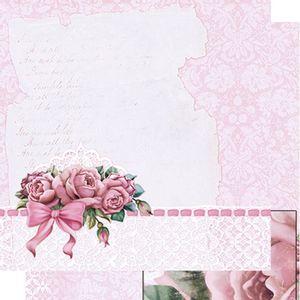 Papel-Scrapbook-Dupla-Face-Rosas-Shabby-Chic-SD-464---Litoarte